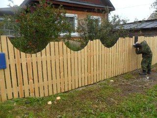 построить деревянный забор своими руками