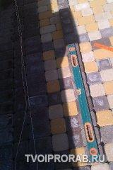 Замер тротуарной плитки