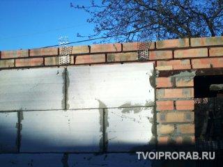Укладка внутренних газоблоков