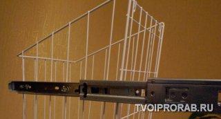 Сборка направляющих корзины шкаф-пенала