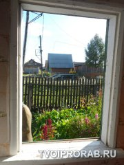 Готовый проем под пластиковое окно