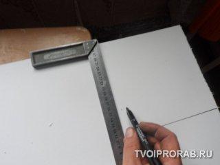 вырезка подоконника для окна ПВХ