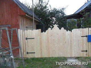 деревянные ворота перед покраской