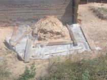 Заливка фундамента под тамбур
