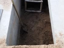 Выкапывание входа в подвал