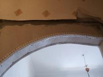основная стена и арка