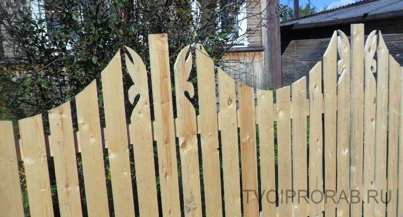 Как сделать красивый деревянный забор фото