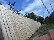 постройка деревянного забора