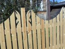 отделка деревянного забора