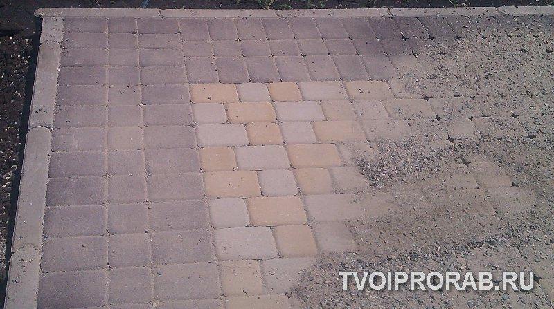 Укладка тротуарной плитки на отсев своими руками видео