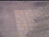 Просыпка тротуарной плитки
