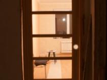 промежуточный этап установки двери