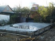 Строительство бетонного основания для дома