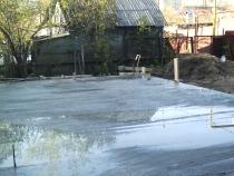 Поливка бетона