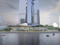 вид на основание Kingdom Tower